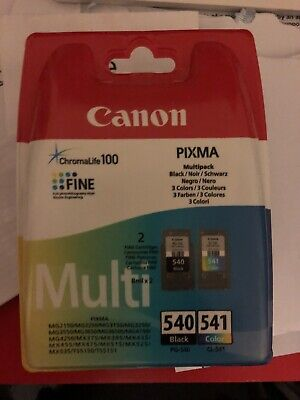 Canon PG-540/CL-541 Ink Cartridge Multipack - Black, Cyan, Magenta, Yellow... • 23£