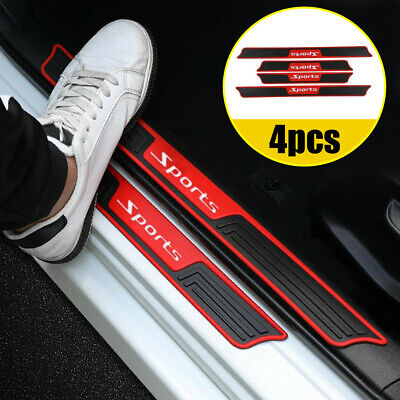 $15.48 • Buy 4pcs Car Door Sill Scuff Plate Cover Panel Step Protector Rubber Car Accessories
