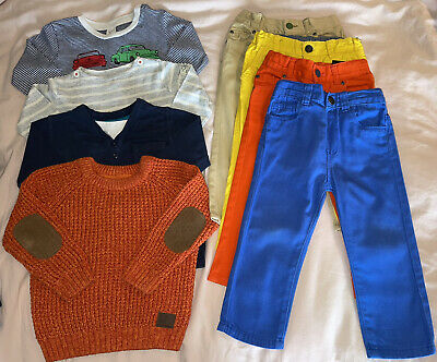 £12.95 • Buy Toddler Boys 12-18 Bundle Trousers Jeans Chinos Coloured Tops Long Sleeve Jumper