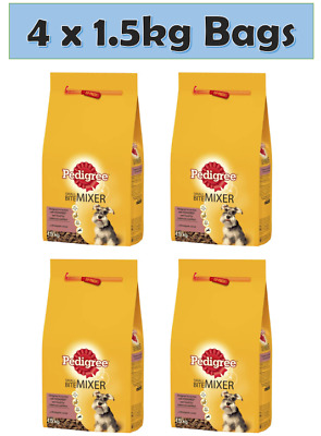£19.95 • Buy Pedigree Small Bite Mixer Dry Food  Wholegrain Healthy Mix With Wet 1.5kg X 4