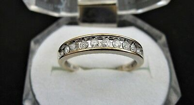 AU253.40 • Buy Natural 0.25ct Diamond Eternity Ring In Solid 9K 9ct Gold