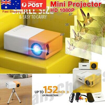 AU54.89 • Buy 4K Portable Pocket Projector HD 1080P LED Home Theater Video Projector HDMI USB