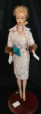 $ CDN625.35 • Buy Beautiful Vintage #4 Ponytail Barbie Blonde W/ Gold Foil Sheath Dress,coat,acc..