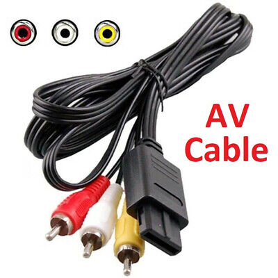 AU9.99 • Buy For SNES Super Nintendo 64 N64 GameCube RCA AV Cable Cord Adapter Audio Video