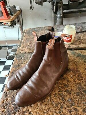 AU150 • Buy Mens Rm Williams Boots Size 11.5d Mid Brown, Leather Soles