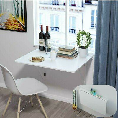 £33.99 • Buy Folding Wood Wall-mounted Drop-leaf Table Computer Desk, 80x60cm,Dining Table
