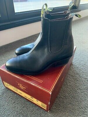 AU395 • Buy RM Williams Black Yearling Boots - New In Box - Men's Size 6 (Women's Size 9)