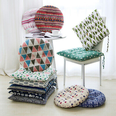 £5.19 • Buy Cotton Linen Chair Seat Pads Office Floor Pillow Thick Square Cushion Sofa Mat