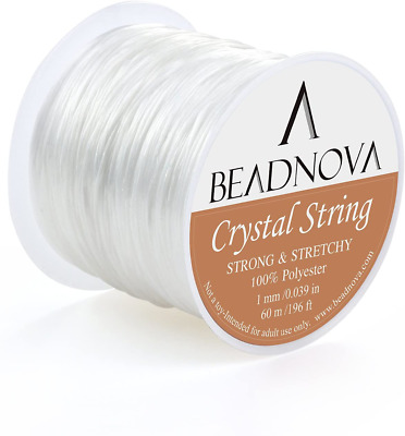 $ CDN7.07 • Buy 1mm Elastic Stretch Polyester Crystal String Cord For Jewelry Making NEW