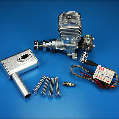 £236.99 • Buy DLE30 30cc Gas Engine 1600rpm/min Fit For RC Plane Aircraft And Muffler XD SHE
