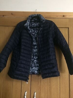 Cotswold Collections Blue Floral Reversible Quilted Jacket Size 16 • 9.99£