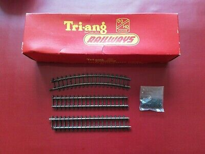 Triang Hornby 00 R483 Double Curved Track Box, 3 Pieces Track And Track Pins • 3.99£