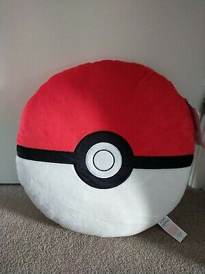 POKEMON Soft Cushion Home Bed Pillow Pokéball Shaped Round Pillow BNWT Primark • 16.99£