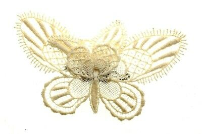 COSTUME JEWELLERY -  Vintage Lace Butterfly Brooch - 1960s • 4.99£