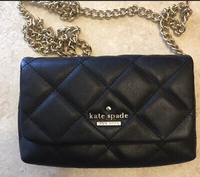 $ CDN39.99 • Buy Rare Kate Spade Black Quilted Leather Purse. Preowned In Excellent Condition