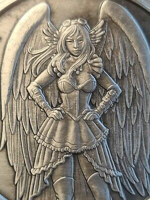 AU349.58 • Buy Giant 5 Oz .999 Silver Antiqued Angels & Demons Steampunk Theodosia Fairy Wings