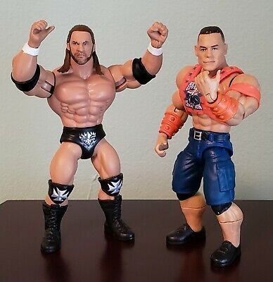 $25 • Buy Mattel Masters Of The WWE Universe TRIPLE H & JOHN CENA Lot (no Ring Or Weapons)