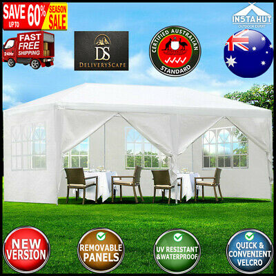 AU114.62 • Buy Instahut Gazebo 3x6m Outdoor Marquee Side Wall Party Wedding Tent Camping White