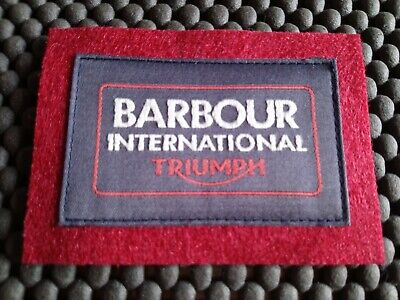 £6.95 • Buy Barbour Embroidered Iron Sew ON ( BARBOUR INTERNATIONAL TRIUMPH) Patch  GB Badge