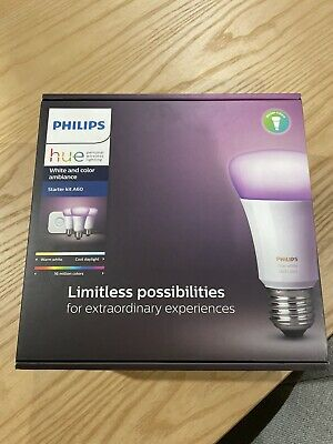 AU165 • Buy Philips Hue E27 Starter Kit A60 White & Colour Ambiance Brand New