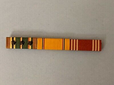 £21.29 • Buy WWII 3 Ribbon Bar 1/2 Campaign Stars EAME Good Conduct Defense Service WW2