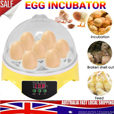 AU26.98 • Buy 7 Egg Incubator Digital Fully Automatic Turning Chicken Duck Poultry Egg Hatcher