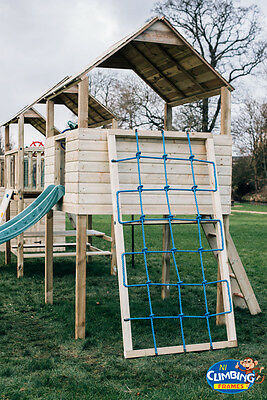 £106.95 • Buy 8ft Wooden Cargo Climber Net FOR Climbing Frame, Tree House, Jungle Gym