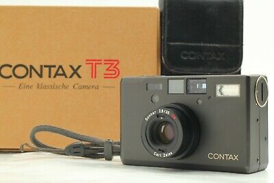 $ CDN3007.67 • Buy [Near Mint In Box] Contax T3 Black Double Teeth Point & Shoot Film Camera Japan