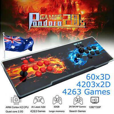 AU178.29 • Buy 4263 Games Pandora's Box 20s Double Stick Arcade Console Machine Retro Game HDMI