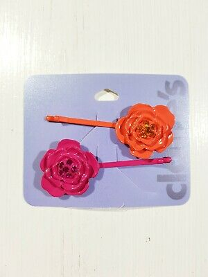 AU6.70 • Buy New Claire's Women's Girls Kids Hair Accessories Hair Clips Bobby-Pin Flowers