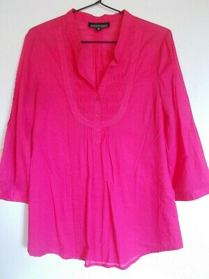 AU20 • Buy Women's Shirt Size 10 By The Clothing Company Hot Pink Cotton