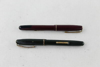 2 X Assorted Vintage WATERMAN Fountain Pens W/ 14ct Gold Nibs WRITING Inc W2 Etc • 0.99£