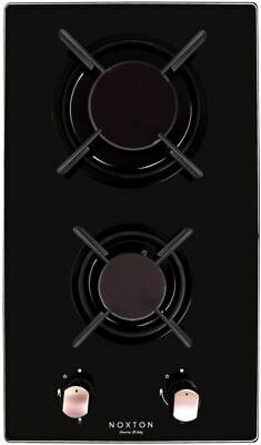 AU154.75 • Buy NOXTON 30cm Built-in Domino Gas Cooktop, Gas Stove Top 2 Sealed Burners, Black G