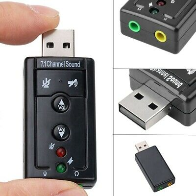 £2.78 • Buy External Virtual USB 3D 7.1 Channels Stereo Sound Card Audio Adapter Converter