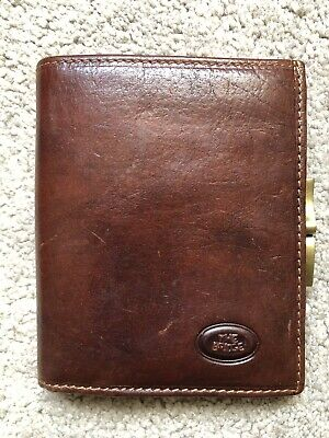 The Bridge Brown Leather Purse Coin Wallet Cards Vintage Classic Style • 12£