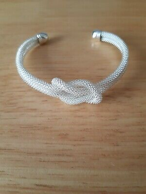 Sterling Silver Knotted Bangle • 1.75£