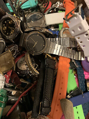 $ CDN41.36 • Buy 20lb+ Lot Vintage To Modern Watch Lot Timex Seiko Fitbit Citizen Some Work/parts