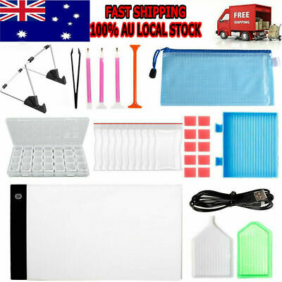 AU24.59 • Buy 5D Diamond Painting Tools DIY Art Craft + LED Pad Light Board With Stand Holder