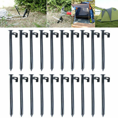 AU34.99 • Buy 20X 30cm Heavy Duty Drill Screw In Ground Tent Pegs Camping Awning Ground Stakes