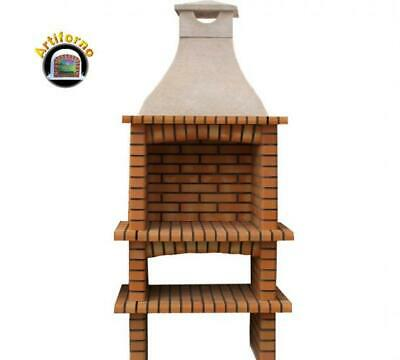£747.93 • Buy Single Brick Outdoor BBQ Masonry Mediterranean With Chimney And 60X40 Grill