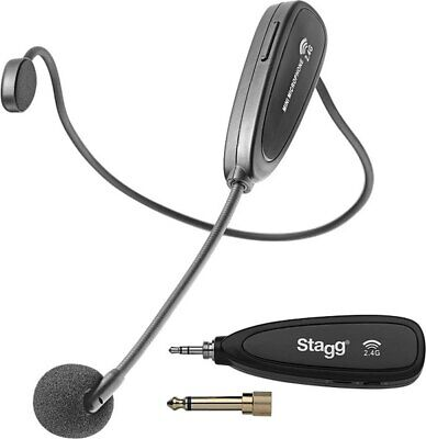 £70.98 • Buy 2.4 GHZ Wireless Headset Microphone Set (with Transmitter And Receiver)
