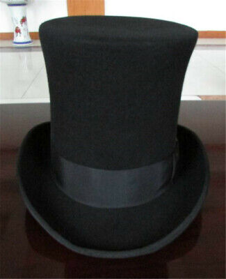 £45.35 • Buy Vintage Wool Mad Hatter Top Hat Magic Performing Party Black Cap Height 25cm Hat