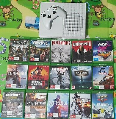 AU182.50 • Buy Xbox One S Console, 15 Games & Controller