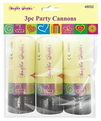 £4.35 • Buy 3  X Party Popper Confetti Cannon Shooter Bomb Birthday Party Wedding Gift 11cm
