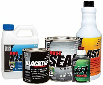 AU189.67 • Buy KBS Coatings 5750201 Satin Black/Gloss Black All-in-One Chassis Paint Kit Pre...