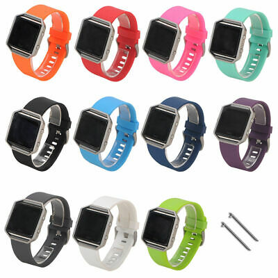 $ CDN5.43 • Buy For Fitbit Blaze Smart Watch Large Soft Sports Silicone Watch Band Wrist Strap S