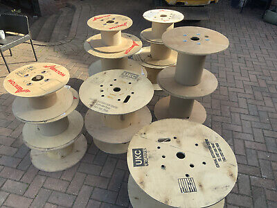 Wooden Cable Drum Reel Up Cycle Upcycle Furniture Table Assorted Sizes Used Reel • 15£