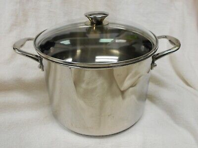 $ CDN53.68 • Buy Wolfgang Puck Bistro Elite 8 Qt Stainless Steel Stock Pot W/Lid