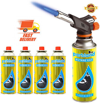 £8.49 • Buy 🔥Butane Gas Or Blow Torch Flamethrower Burner Welding Auto Ignition Camping Set