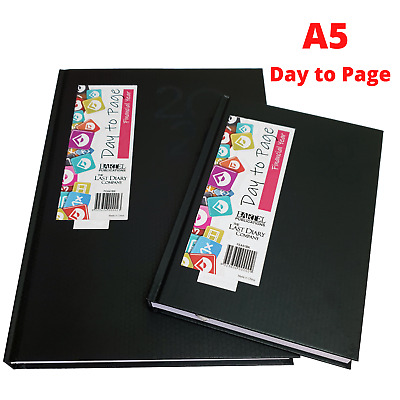 AU25.95 • Buy 2021-2022 Financial Year Diary - Last Diary Company A5 Day To Page BLACK FEA51BK